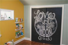 Remind them how far your love goes.   35 Out-Of-This-World Ideas For A Space-Themed Nursery