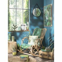 Fodera di cuscino in cotone 40 x 40 cm PALMIERS   Maisons du Monde