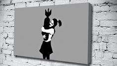 Bomb Girl Grey banksy canvas from only £14.99 at Canvas Art Print http://www.canvasartprint.co.uk/products/BOMB-GIRL-GREY-438036.aspx
