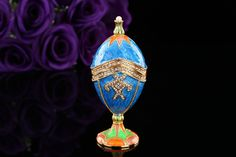 Find More Figurines & Miniatures Information about New arrive blue faberge egg for gift,High Quality egg distributors,China egg pan Suppliers, Cheap egg grade from Qifu Craft & Gift on Aliexpress.com