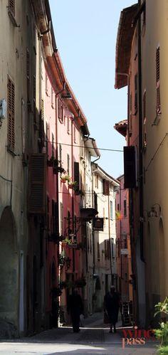 Tight streets of Garbagna in Gavi & Tortonese wine zone of Piemonte, Italy