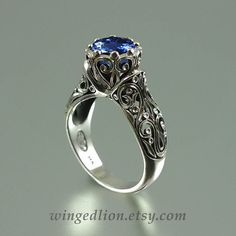 The ENCHANTED PRINCESS 14k gold engagement ring by WingedLion
