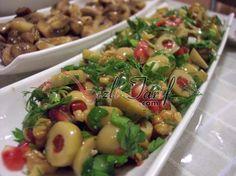 Yeşil Zeytin Salatası – Meze