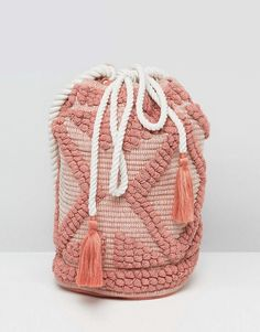 South Beach Drawstring Shoulder Bag In Lullaby Pink - Cart by South Beach, Textured cotton outer, Canvas lining, Rope strap, Drawstring closure, Magnetic-stud fastening, Interior pockets, Wipe clean, 100% Cotton, H: 34cm/13 W: 34cm/13 D: 24cm/9. Making a splash, hot new swim and beachwear brand South Beach presents its debut collection of vibrant, trend-led pieces. Featuring beading and embellishment across a range of classic bikini styles, beach cover ups, loungewear and onesies, mix and…