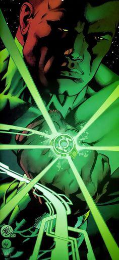 Green Lantern John Stewart by Dale Eaglesham. The real Green Lantern ✊🏾 Black Green Lantern, Green Lantern Comics, Green Lanterns, Dc Comics Characters, Dc Comics Art, Marvel Dc Comics, Comic Book Heroes, Comic Books Art, Comic Art