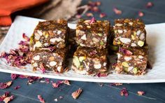 Dry Fruit Burfi Recipe with Gulkand (Diwali Mithai) by Archana's Kitchen - Simple Recipes & Cooking Ideas