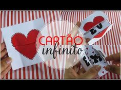 Cartão infinito - Presente criativo para dia dos namorados ♥ - YouTube