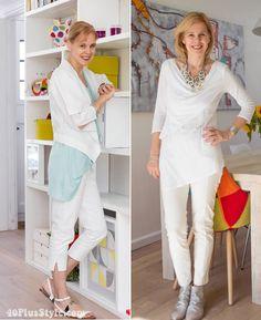 wearing white capris   40plusstyle.com