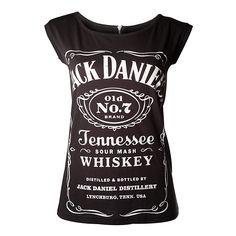 Dámské tričko Jack Daniels Black, With Zipper On Back