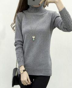 Turtleneck Winter Sweater Pullovers Female Jumper