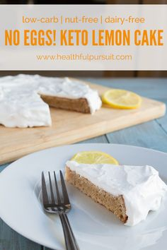 Keto Lemon Cake (low-carb, egg-free, nut-free, grain-free, paleo, dairy-free and sugar-free)