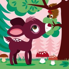 Illustration by Katia De Conti. Cute and playful.