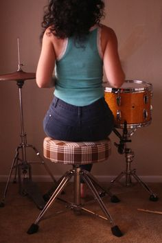 Take your drum kit to the next level. DIY Drum Throne Cover on the blog