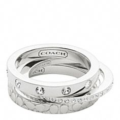 Coach Sterling Stacking Rings