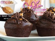 Low-Calorie Chocolate PB Brownie Cakes: A guilt-free treat!!!
