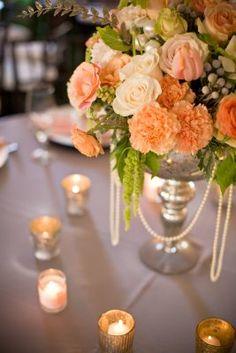 Peach flowers for my peach and grey wedding.