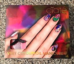 Review, Swatches: Ciaté Chalkboard, Very Colourfoil Manicure Sets Metallic Foils, Chalkboard, Matte Nail Polish