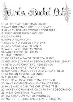 Christmas bucket list // Love                                                                                                                                                                                 More