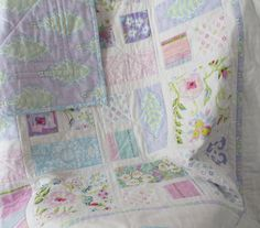 COOL MORNING MEADOW Cottage Chic baby girl by ArtistryWithFabric