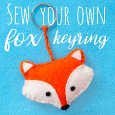 Learn how to sew your own cute felt fox keyring with this fun craft idea. This fox keyring will make a great handmade gift for a loved one!