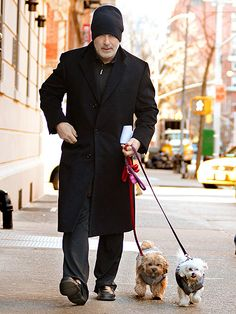 Alec Baldwin and two furry friends