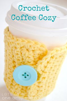 Crochet Coffee Cozy | One Artsy Mama