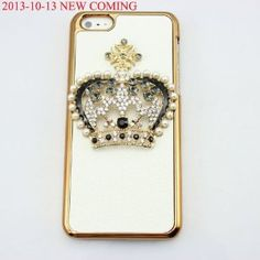bling 3D diamond clear crown shoe girl eiffel hard back Case cover for Iphone 5C (crown)