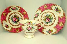Vintage bone china Royal Albert trio in Lady by MaisonMaudie