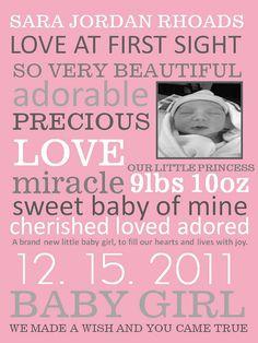 so cute baby announcement
