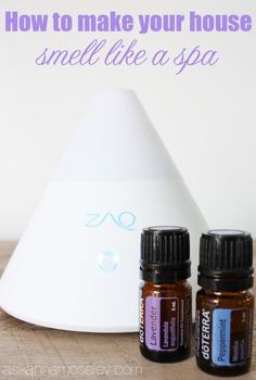 How to make your house smell like a spa - combine equal amounts of Peppermint and Lavender essential oils in an essential oil diffuser Essential Oil Uses, Doterra Essential Oils, Essential Oil Diffuser, House Smell Good, House Smells, Deep Cleaning Tips, Cleaning Hacks, All You Need Is, Spa