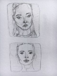 sketch of two women's faces