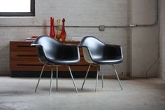 What do #Eames chairs look like after 60 years?  See Imposing Mid Century Modern Eames ® DAX Molded Arm Chair for Herman Miller (U.S.A., 1960s) | by Kennyk@k2modern.com
