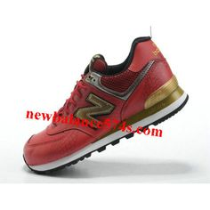 New Balance 574 Year of Dragon word Red Golden Black men shoes 4e38f1b78