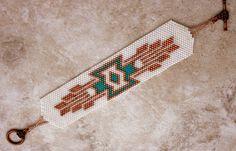 Peyote Beaded Southwest  Design Handmade Beaded by TombstoneBeads