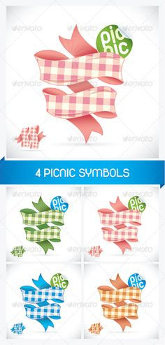 4 Picnic Sign Illustrations