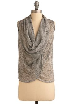 love this grey draping top $29.99