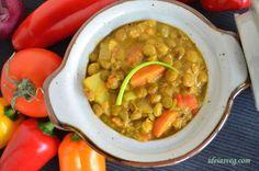 Lentilhas com legumes ao curry