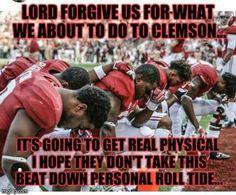 Alabama Football verses Clemson