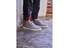 Vegan product Grey Denim Men's Paseo Sneakers From this solid style foundation, many a mighty outfit shall be built. The Paseo makes it easy with optional lacing.      Denim upper     Breathable insole     Rubber outsole for increased traction and comfortRemovable, molded anti-microbial footbed for added comfort and breathable support