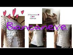 Uncinetto:maglia top BiancaNeve facile - YouTube