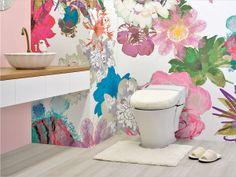 7. 夢見るトイレ  当店取り扱い商品を使ったトイレコーディネートです。  http://www.rakuten.ne.jp/gold/diaadia/TOILET/  #トイレ #壁紙 #花 #アート #ピンク