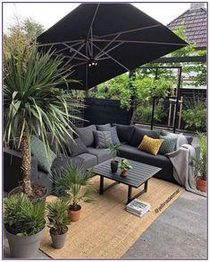 25 Creative DIY Patio Gardens Ideas on a Budget * aux-pays-des-fleu… - Modern Patio Garden Ideas On A Budget, Backyard Patio Designs, Small Backyard Landscaping, Diy Patio, Budget Patio, Patio Ideas, Landscaping Ideas, Outdoor Living Rooms, Outdoor Spaces