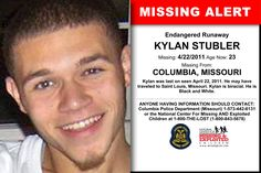 KYLAN STUBLER, Age Now: 23, Missing: 04/22/2011. Missing From COLUMBIA, MO. ANYONE HAVING INFORMATION SHOULD CONTACT: Columbia Police Department (Missouri) 1-573-442-6131.