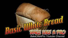 Basic white bread recipe !  I'll show you step by step how to make bread at home.  I go through every step from start to finish, without skipping a step.  I hope you enjoy this video :-)  A nice crust exterior, and moist soft white bread interior.   Please subscribe, like and share if you can, I do appreciate it.  My Facebook Page: http://www.facebook.com/BakeLikeAPro My Twitter: http://twitter.com/BakeLikeAPro http://instagram.com/bakelikeapro  #recipe #recipes #love