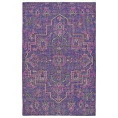 Hand-Knotted Vintage Purple Heriz Rug (8'0 x 10'0)