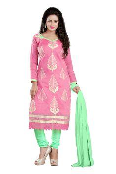 buy saree online Pink Colour Chanderi Designer Party Wear Dress Material Buy Saree online - Buy Sarees online