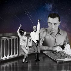Dance dance dance to the radio. By Cane La. Cut And Paste, Collage, Ballet, Dance, Concert, Movies, Movie Posters, Inspiration, Art