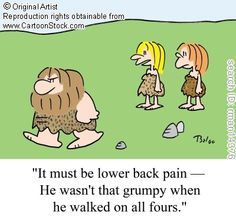 Back pain humour - because laughter is the best medicine.