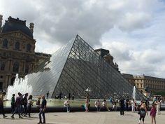 Louvre Pyramid designed by IM Pei located in the Palais du Louvre #france #paris #travel #museums #louvre #art #architecture