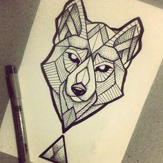 Another wolf. Desenho disponível para ser tatuado. #wolftattoo #wolfillustration #inkwolf #wolflines #wolflovers #inklovers #tattoolovers #brokentattoo